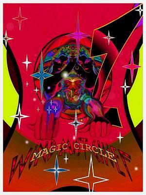 Magic Circle Wind Mist Chief Art Print by Ritchard Mifsud