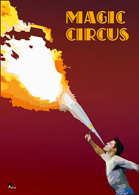 Swallow Digital Art - Magic Circus by Joaquin Abella