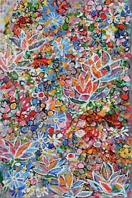 Painting - Magic Color Garden 201757 by Alyse Radenovic