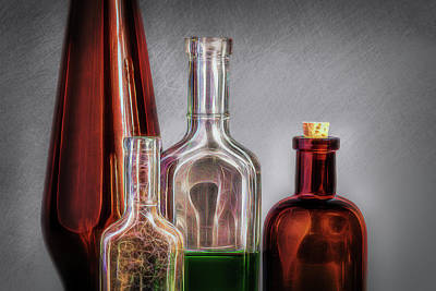 Medicine Bottles Photograph - Magic Elixir by Tom Mc Nemar