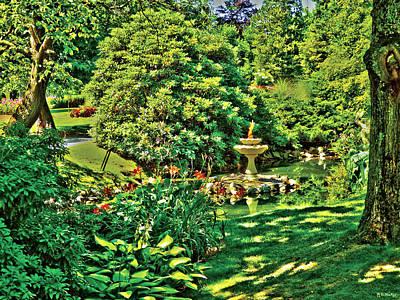 Fairy Digital Art - Magic Fairy Garden by Celtic Artist Angela Dawn MacKay
