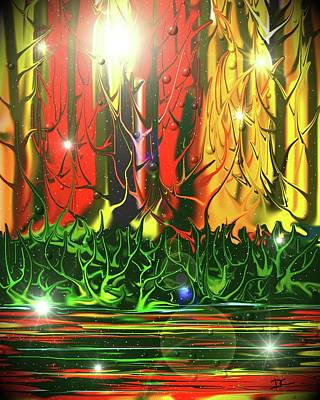 Digital Art - Magic Forest 2 by Darren Cannell