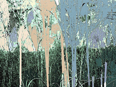 Sky Line Mixed Media - Magic Forest by Lenore Senior