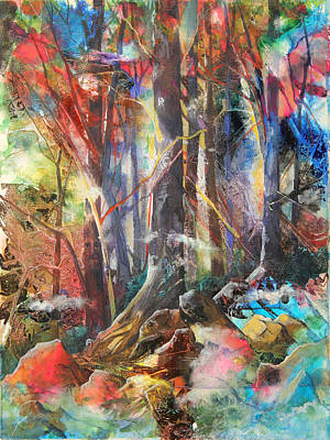 Patricia Mixed Media - Magic Forest by Patricia Allingham Carlson