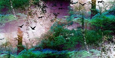 Mixed Media Royalty Free Images - Magic Forest Royalty-Free Image by Romuald  Henry Wasielewski