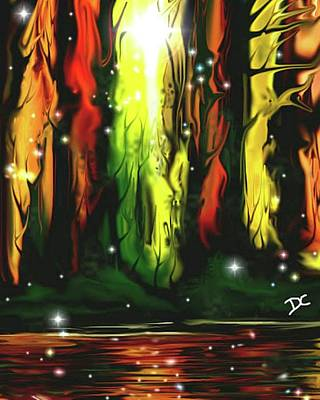 Digital Art - Magic Forest Sparkle by Darren Cannell