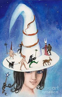 Constellations Painting - Magic Hat by Margaryta Yermolayeva