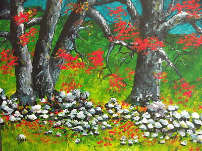 Art Print featuring the painting Magic Hillside by Dan Whittemore