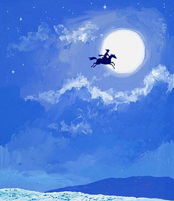 Moon Painting - Magic Horse by Angus McBride