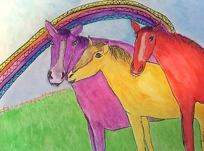 Painting - Magic Horses by Anne Sands