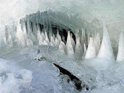Photograph - Magic Ice Cave by George Tuffy