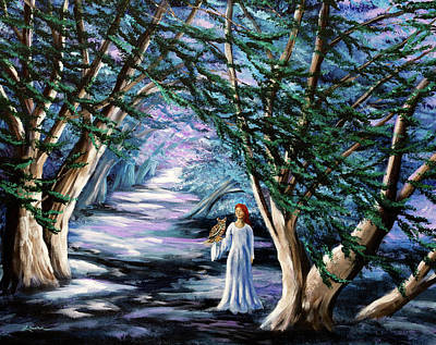 Sorceress Painting - Magic In Cypress Woods by Laura Iverson