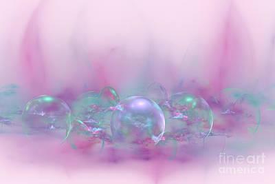 Digital Art - Magic In Pink Abstract by Olga Hamilton