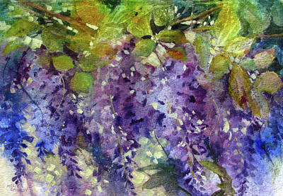 Painting - Magic In Purples And Greens by Melissa Gannon
