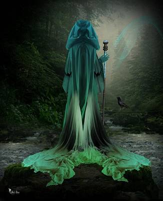 Digital Art - Magic In The Misty Woods2 by Ali Oppy
