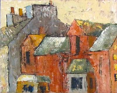 Painting - Magic In The Rooftops by Barbara O'Toole