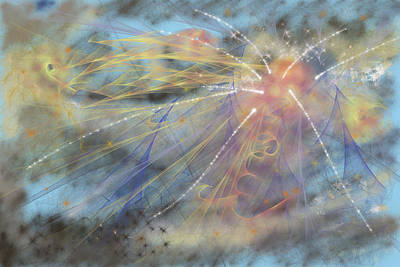 Magic In The Skies Art Print by Angela A Stanton