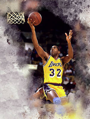 Magic Johnson Digital Art - Magic Johnson by Karl Knox