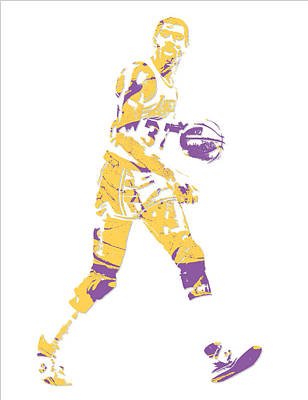 Magic Johnson Mixed Media - Magic Johnson Los Angeles Lakers Pixel Art 5 by Joe Hamilton