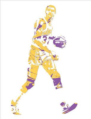 Magic Johnson Mixed Media - Magic Johnson Los Angeles Lakers Pixel Art 5 by Joe Hamilton