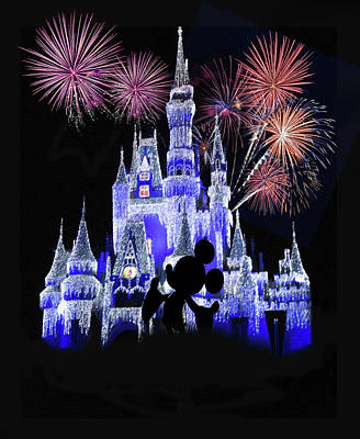 Walt Disney World Photograph - Magic Kingdom Castle by Art Spectrum