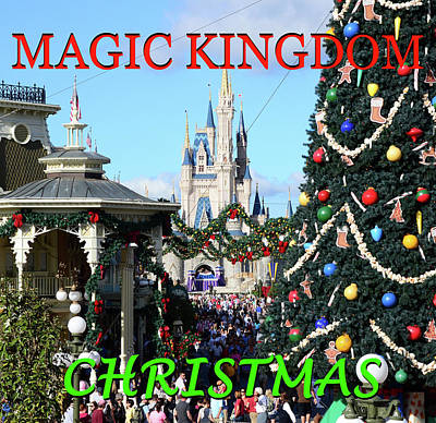 Photograph - Magic Kingdom Christmas by David Lee Thompson