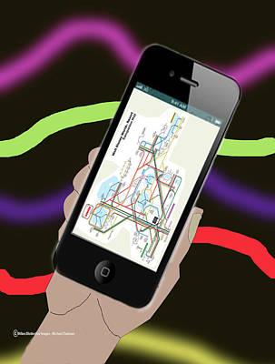 Digital Art - Magic Kingdom Locator by Michael Chatman