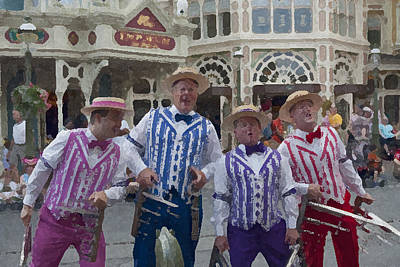 Magic Kingdom Digital Art - Magic Kingdom Main Street Quartet by Christopher Purcell