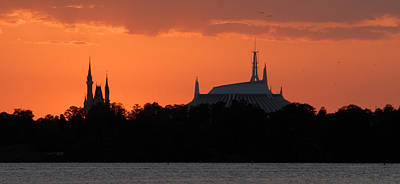 Photograph - Magic Kingdom Pano Work 9 by David Lee Thompson