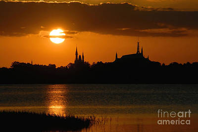 Orlando Magic Photograph - Magic Kingdom Sunset by David Lee Thompson