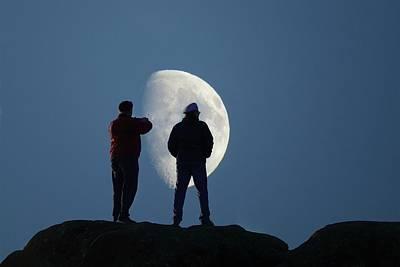 Magic Landscapes 2 -- Moon Men Art Print by Rick Lawler
