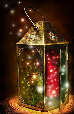 Digital Art - Magic Lantern by Laurie Hasan