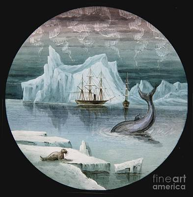 Magic Lantern Slides Of Arctic Exploration Art Print by MotionAge Designs