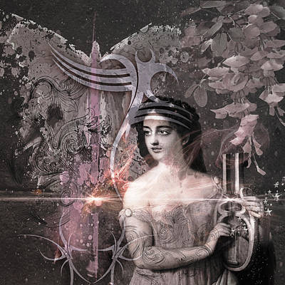 Magic Lute Art Print by Rosemary Smith