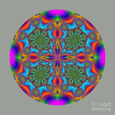 Abstract Digital Art - Magic Mandala Fractal Circle by Marv Vandehey