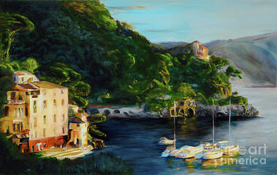 Portofino Italy Painting - Magic Moment by Kimberly Sheldon Scruggs