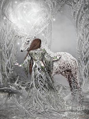 Elf Digital Art - Magic Moments by Babette Van den Berg