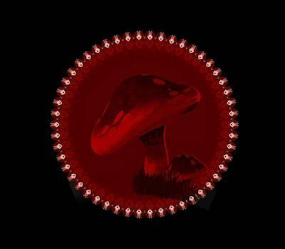 Digital Art - Magic Mushroom by Nancy Pauling