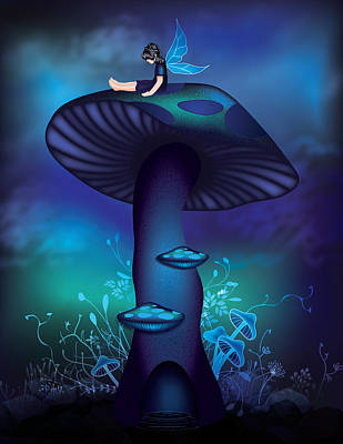 Digital Art - Magic Mushroom Tree by Serena King
