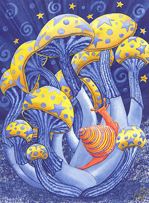 Mushroom Painting - Magic Mushrooms by Catherine G McElroy