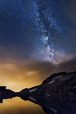 Photograph - Magic Night At Lac Blanc by Mircea Costina Photography