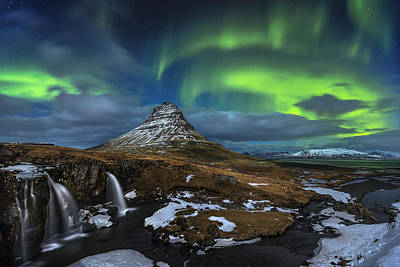 Waterfall Photograph - Magic Night by Dr. Nicholas Roemmelt