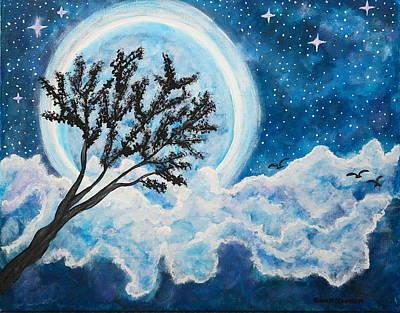 Painting - Magic Night by Gina Nicolae Johnson