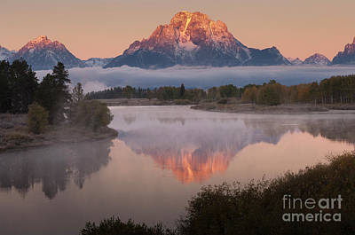 Photograph - Magic Of Dawn At Oxbow  Bend by Sandra Bronstein
