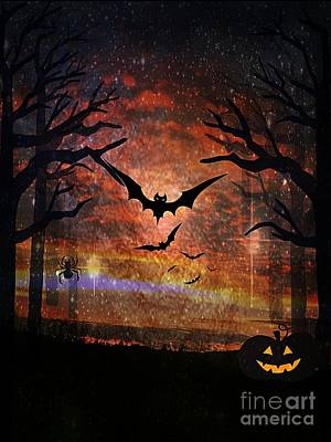Digital Art - Magic Of Halloween by Maria Urso