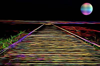 Digital Art - Magic On The Boardwalk by Andrew Mcdermott