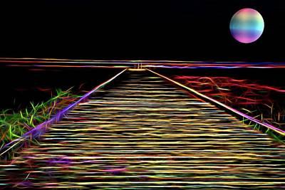 Digital Art - Magic On The Boardwalk by Andrew Mcdermott