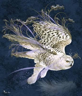 Digital Art - Magic Owl by Ali Oppy