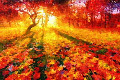 Falls Painting - Magic Park - Da by Leonardo Digenio