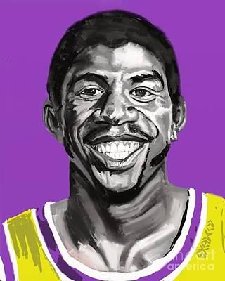 Magic Johnson Digital Art - Magic by Shawn Dedeaux